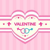 Valentine's day gift card angel cupid valentine Stock Photography