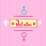 Valentine's day gift card angel cupid valentine Stock Images