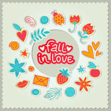 Valentine's day gift card. Vector illustration Stock Photos