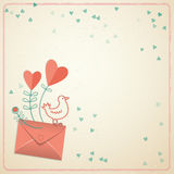 Valentine's day gift card. Vector illustration Royalty Free Stock Photos