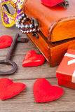 Valentine's Day gift chest Royalty Free Stock Photography