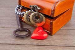 Valentine's Day gift chest Stock Images