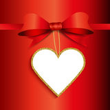 Valentine's Day gift label background Royalty Free Stock Photos