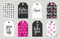 Valentine's day Gift tags set, stickers and labels. Royalty Free Stock Image