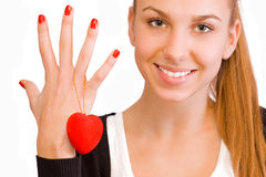 Valentine\\\'s Day girl Royalty Free Stock Image