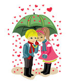Valentine's day, girl and boy Royalty Free Stock Photos