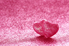 Free Valentine`s Day Glitter Background, Two Hearts Royalty Free Stock Photo - 81774655