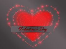 Valentine`s Day. Glowing hearts. Royalty Free Stock Photography