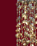 Valentine's Day Gold Heart Garland Royalty Free Stock Photography