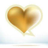 Valentine's day gold speech bubble. + EPS8. Vector file Royalty Free Illustration