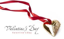 Valentine's Day Golden Heart Stock Photos