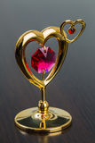 Valentine's Day Golden Heart Stock Photography