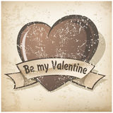Valentine`s Day grange heart Royalty Free Stock Photos
