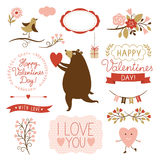 Valentine's day graphic elements,  collection Stock Photo