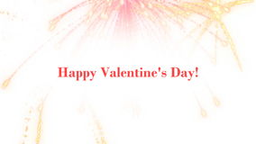 Valentine's Day. Graphics compliments with Valentine's Day stock footage