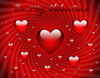Valentine's Day greeting card Royalty Free Stock Photos