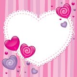 Valentine's day greeting card Royalty Free Stock Photo