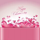 Valentine's day greeting card. Vector illustration - Valentine's day greeting card Stock Image