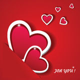 The Valentine's Day. Greeting card. Stock Image