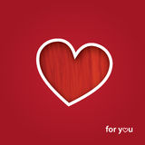 Valentine`s Day Greeting Card Stock Photo