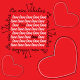 Valentine's Day Greeting Card Stock Photography