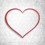 Valentine's Day - greeting card background template Royalty Free Stock Images