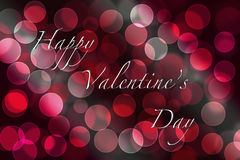 Valentine's day greeting card. With bokeh lights Stock Image