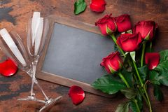Valentine`s day greeting card royalty free stock image