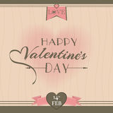 Valentines Day greeting card design. Royalty Free Stock Photos