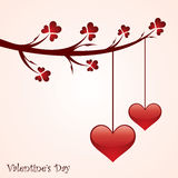 Valentine's day greeting card design Royalty Free Stock Photo