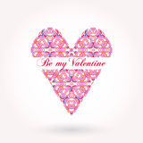 Valentine's Day greeting card with elegant text Stock Image