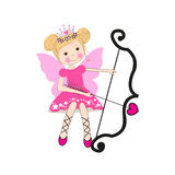 Valentine`s Day greeting card with fairy Stock Image