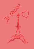 Valentine's Day greeting card in French Stock Photo