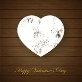 Valentine's Day greeting card with grunge heart Stock Images