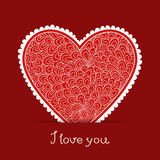 Valentine's day greeting card stock illustration