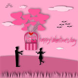 Valentine's Day greeting card Royalty Free Stock Image