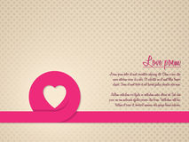 Valentine's day greeting card with heart patterned background Stock Photos