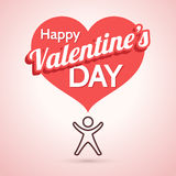 Valentine's Day Greeting Card with Heart Symbol Royalty Free Stock Images