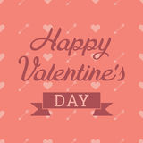 Valentine`s Day greeting card Royalty Free Stock Photography