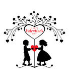 Valentine's day greeting card. Royalty Free Stock Images