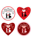 Valentine's day greeting card. Royalty Free Stock Photos