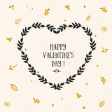 Valentine's day greeting card with lettering Stock Image
