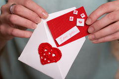 Valentine`s Day - Greeting Card Royalty Free Stock Photos