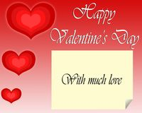 Valentine`s Day greeting card. royalty free stock photo