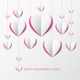 Valentine's day greeting card with Paper Heart. Template for des Royalty Free Stock Photography