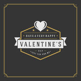 Valentine's Day greeting Card or Poster and Heart Stock Images