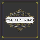 Valentine's Day greeting Card or Poster and Heart Stock Photography