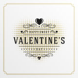 Valentine's Day greeting card or poster vector Stock Image