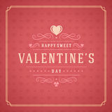 Valentine's Day Greeting Card or Poster Vector Stock Images