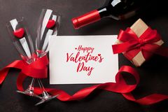 Valentine`s day greeting card stock image